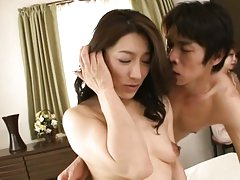 Marina Matsumoto with nasty tits has twat rubbed a...