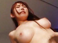 Azumi Kinoshita hard group fuck which makes her sc...