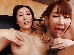 Azumi Kinoshita hot threesome along her best frien...