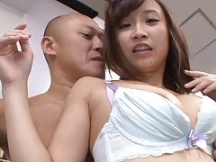 Ayumi Kimino is undressed and touched all over in...