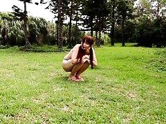 Hana Nonoka Asian puts vibrator on generous boobs...