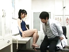 Rin Suzune feels horny and eager to try cock while...