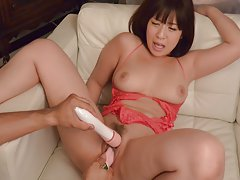 Wakaba Onoue with big chest has vibrators on and i...