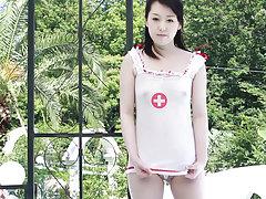 At CKE18, when sexy Japanese nurse Machiko enters...