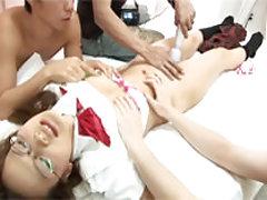 Shizuko Fujiki Asian busty has tight asshole fucke...