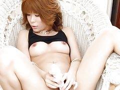 Junna Hara with nude jugs enjoys pleasure offered...
