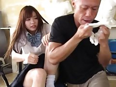 Mei Hayama Asian has panty smelled by man licking...