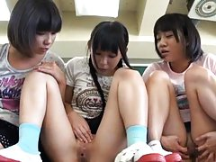 Yuri Shinomiya and babes show their cunts and rub...