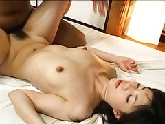 Kurumi Katase Asian has sperm pouring from hairy s...