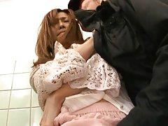 Akari Asahina Asian busty has crack licked and rub...