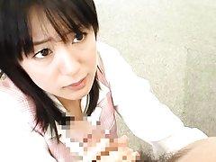 Nana Nanaumi Asian with racy boobs gets doggy from...