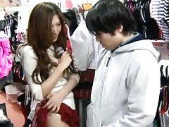 Yuna Shiina Asian has hairy nooky fingered under s...