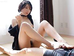 Adorable Akari Misaki has toe skills to grip your...