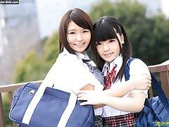 Sanae Akino &  Kaede Aoshima have two teen schoolg...