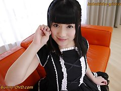 Japanese French maid An Koshi uses toys to make he...