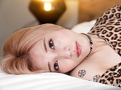 Trans girl Chulin Nakazawa looks so sexy in leopar...