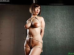 Big boobs Honoka Orihara in shibari rope bondage l...