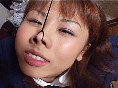 Asian bukkake group sex
