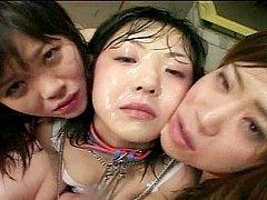 japanese bukkake lesbian acts