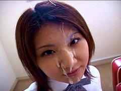 Bukkake facials cumshot