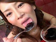 Japanese Teen Asian bukkake orgy