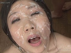 Mai fingers and spreads her pussy hole as she is b...