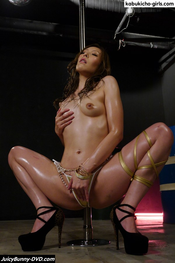 Hot strippers fuck in a bar after the show 4