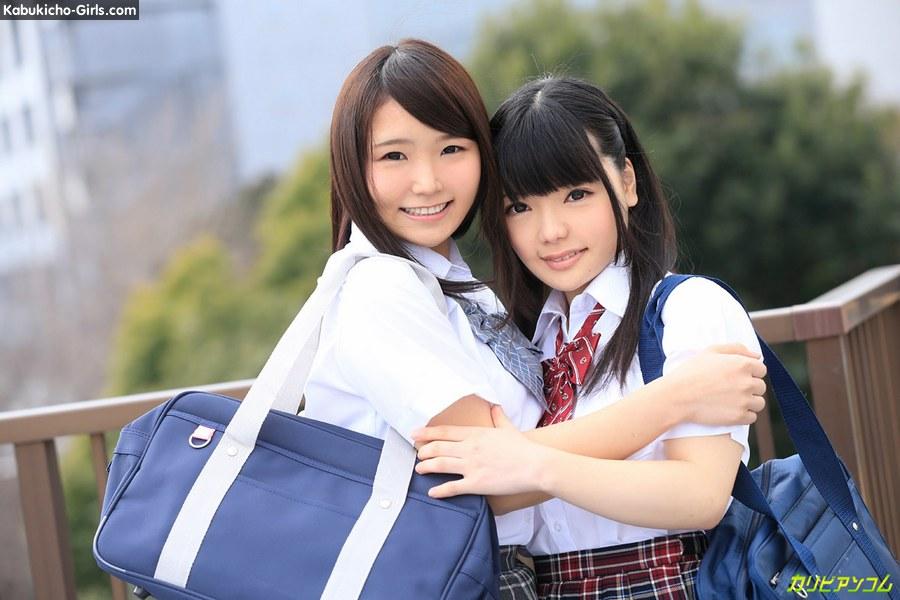 Sanae Akino &  Kaede Aoshima, 秋野早苗  青島かえで, 2 teen schoolgirl orgy. creampie, blowjob, titty fuck, cum in mouth, bareback sex