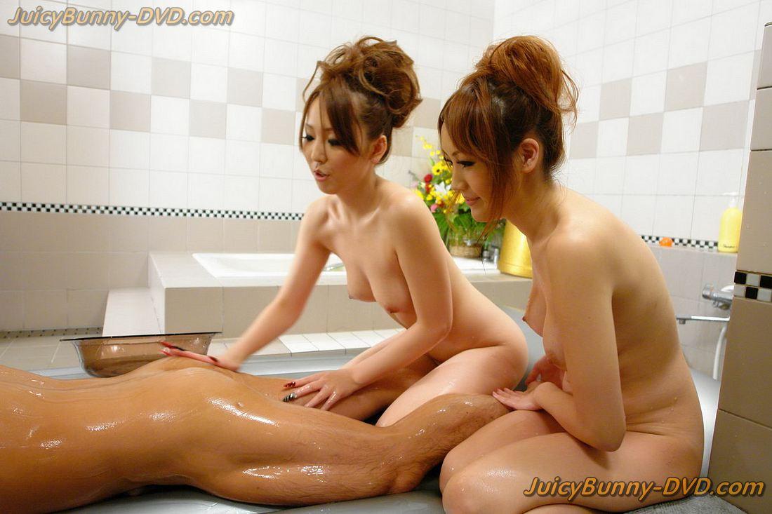 Yuki mizuho and karin asamiya wet massage 9