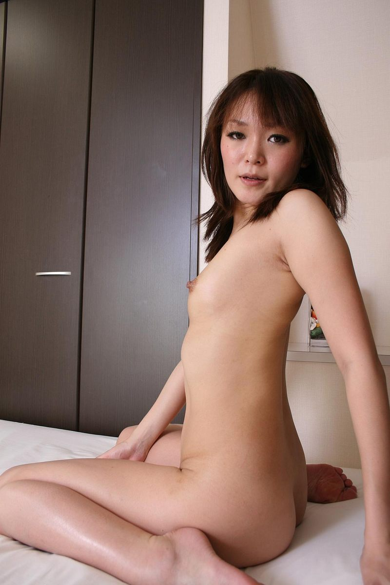 Aika nipples get rock hard as she pinches them before toying 3